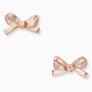 2/$59: Kate Spade Mini Bow Studs in Rose Gold